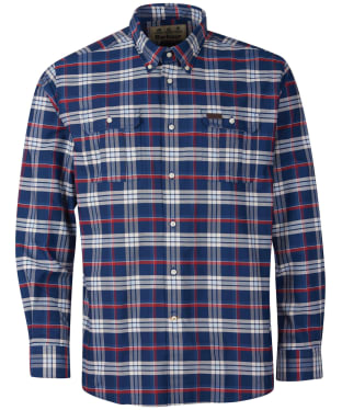 Men's Barbour Barton Coolmax Shirt - Navy Check