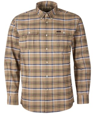 Men's Barbour Barton Coolmax Shirt - Stone Check