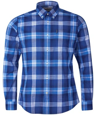 Men's Barbour Highland Check 37 Tailored Shirt - Blue Check