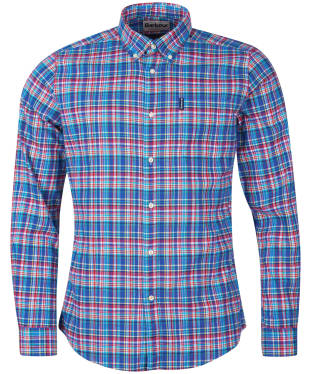 Men's Barbour Highland Check 38 Tailored Shirt - Blue Check