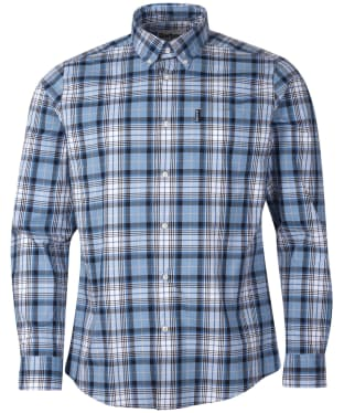 Men's Barbour Highland Check 39 Tailored Shirt - Navy Check