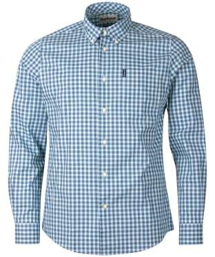 Men's Barbour Gingham 22 Tailored Shirt - Green Check