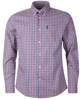Men's Barbour Gingham 22 Tailored Shirt - Pink Check