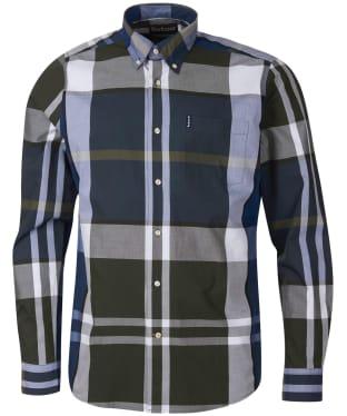 Men's Barbour Tartan 12 Tailored Shirt - Sage