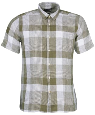 Men's Barbour Alnmouth Shirt - Light Moss Check