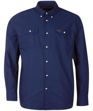 Men's Barbour Waddington Coolmax Shirt - Navy