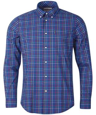 Men's Barbour Tattersall 24 Tailored Shirt - Blue