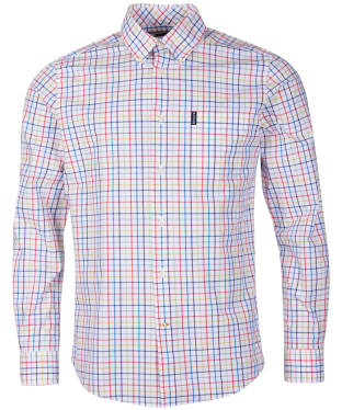 Men's Barbour Tattersall 24 Tailored Shirt - White