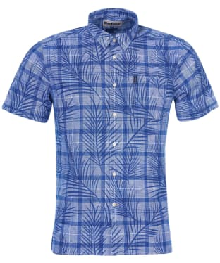 Men's Barbour Summer Print 7 S/S Shirt - Blue Print