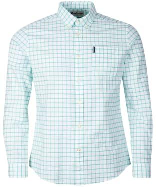 Men's Barbour Tattersall 23 Tailored Shirt - Green Check