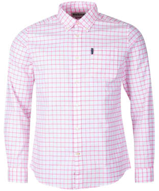 Men's Barbour Tattersall 23 Tailored Shirt - Pink Check