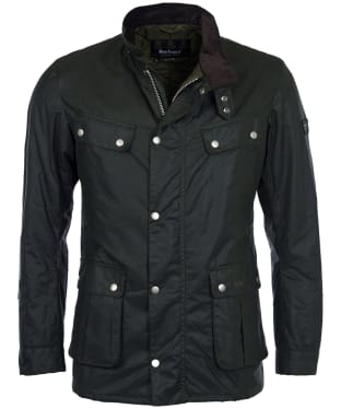 Men's Barbour International Duke Wax Jacket - Sage