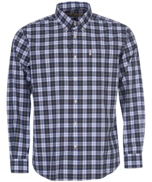 Men's Barbour Highland Check 28 Regular Fit Shirt - Olive Check