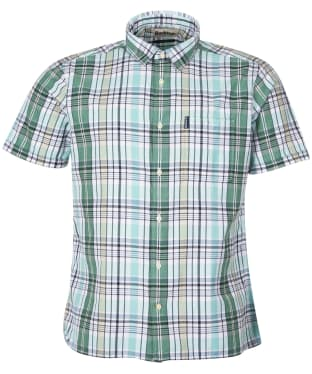 Men's Barbour Madras 7 S/S Summer Shirt - Green Check
