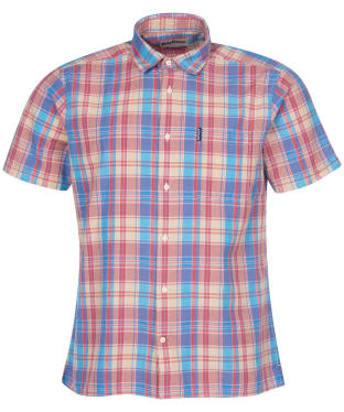 Men's Barbour Madras 7 S/S Summer Shirt - Pink Check