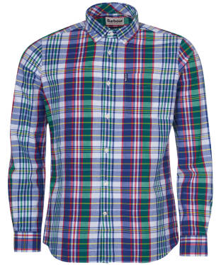 Men's Barbour Madras 6 Tailored Shirt - Blue Check