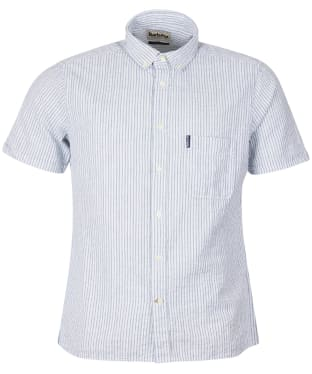 Men's Barbour Seersucker 10 S/S Tailored Shirt - Inky Blue