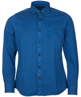 Men's Barbour International Garment Dyed Shirt - Mid Blue