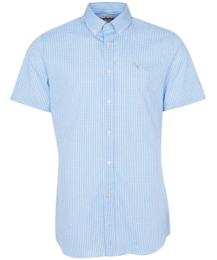 Men's Barbour Gingham 27 S/S Tailored Shirt - Sky Blue