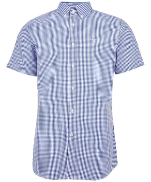 Men's Barbour Gingham 27 S/S Tailored Shirt - Deep Blue