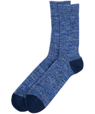 Men's Barbour Colour Twist Socks - Navy