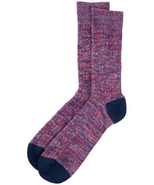 Men's Barbour Colour Twist Socks - Red / Navy