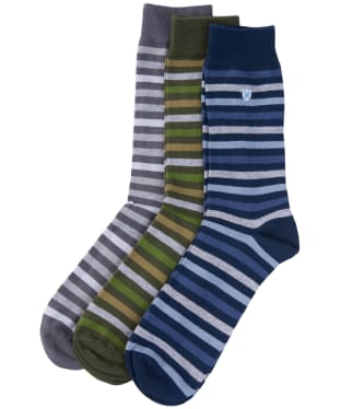 Men's Barbour Stripe Socks – 3 Pack - Mixed