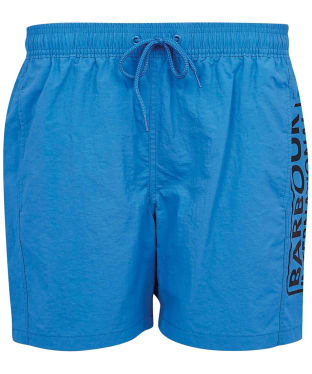Men's Barbour International Large Logo Swim Shorts - Pure Blue