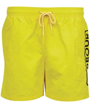 Men's Barbour International Large Logo Swim Shorts - International Yellow
