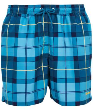 Men's Barbour Tartan Swim Shorts - AQUA TARTAN