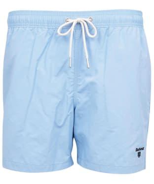"Men's Barbour Essential Logo 5"" Swim Shorts - Powder Blue"
