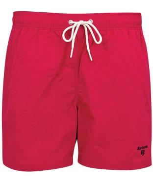 "Men's Barbour Essential Logo 5"" Swim Shorts - Raspberry"