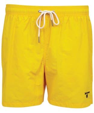 "Men's Barbour Essential Logo 5"" Swim Shorts - Sunbleach Yellow"