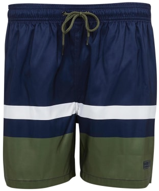 Men's Barbour International Essential Block Stripe Swim Shorts - International Navy