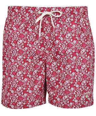 Men's Barbour Crescent Swim Shorts - Raspberry