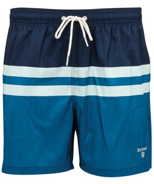 Men's Barbour Double Stripe Swim Shorts - Navy