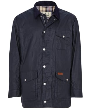 Men's Barbour Pavier Lightweight Waxed Jacket - Royal Navy