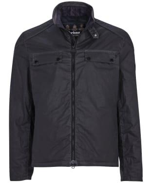Men's Barbour International Allen Waxed Jacket - Charcoal
