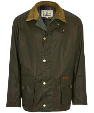 Men's Barbour Alderton Lightweight Waxed Jacket - Archive Olive