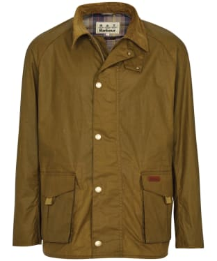 Men's Barbour Alderton Lightweight Waxed Jacket - Sand