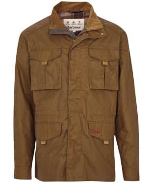 Men's Barbour Dawson Waxed Cotton Jacket - Sand