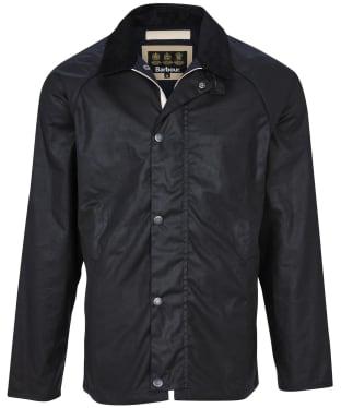 Men's Barbour Gelbin Waxed Jacket - Navy
