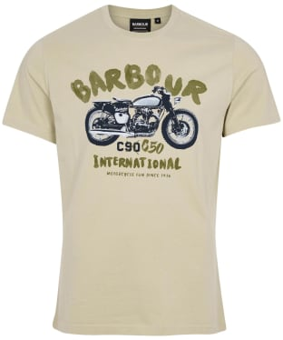 Men's Barbour International Bike Print Tee - Washed Stone