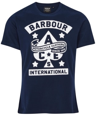 Men's Barbour International Steering Tee - Navy