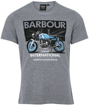 Men's Barbour International Greenwood Tee - Anthracite Marl