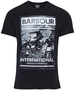 Men's Barbour International Archive Downforce Tee - Black