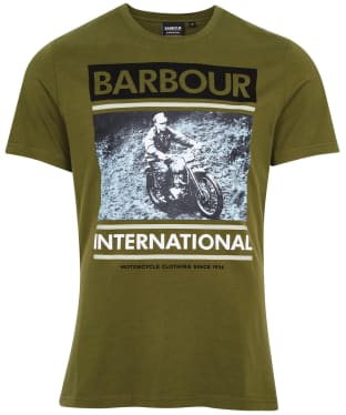 Men's Barbour International Archive Downforce Tee - Vintage Green