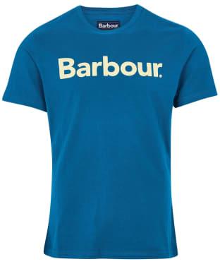 Men's Barbour Logo Tee - Lyons Blue