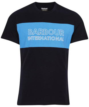 Men's Barbour International Panel Logo Tee - Black 3