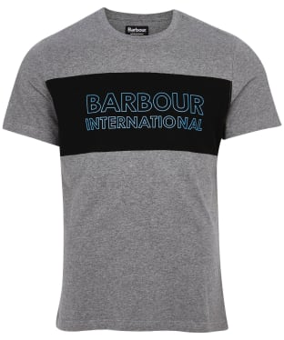 Men's Barbour International Panel Logo Tee - New Anthracite Marl